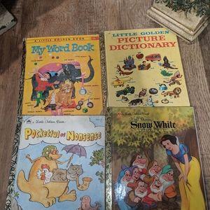 VTG Golden Kids Books and Disney Classics Books